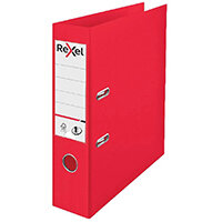 Rexel Choices 75mm Lever Arch File Polypropylene A4 Red 2115504