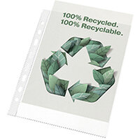 Rexel Pocket Recycled PP 70 micron A5 White Pack of 50 2115703