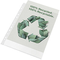 Rexel Folder Recycled PP 100 micron A4 White Pack of 100 2115704