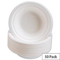 Caterpack Bowls Super Rigid 7inch (12oz) Biodegradable Bowls (Pack 50) 3866