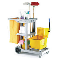 Bentley Mobile Janitorial Multifunctional Cleaning Trolley