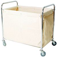 Laundry & Linen Truck with Bag Silver 100kg Capcity 356926