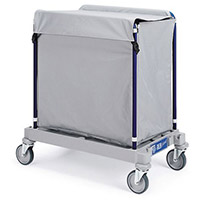 Linen Trolley 200 Litres With Lid 916 Grey 357392