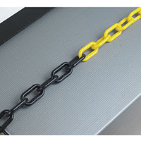 Plastic Chain 6mm Black/Yellow Chain Barrier System 360075