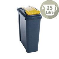 Vfm Recycling Waste Bin 25L Yellow