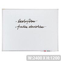 Franken ValueLine Whiteboard Plastic Coated Surface 2400x1200mm SC3006