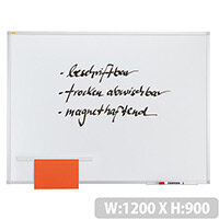 Franken ValueLine Magnetic Whiteboard Lacquered Surface 1200x900mm SC3103