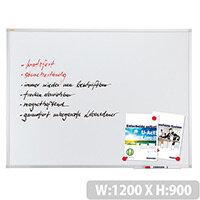 Franken ValueLine Magnetic Whiteboard 1200 x 900 mm Aluminium Frame SC3203