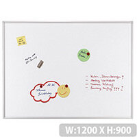Franken ECO Magnetic Whiteboard Lacquered Steel 1200 x 900mm White SC4103