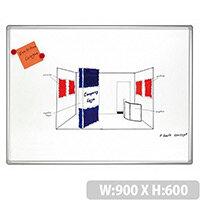 Franken PRO Enameled Magnetic Whiteboard 600 x 900mm SC8202