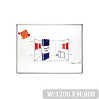 Franken PRO Enameled Magnetic Whiteboard 900x1200mm White SC820