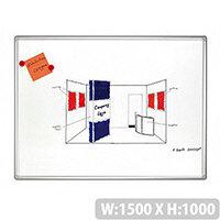 Franken PRO Enameled Magnetic Whiteboard 1000x1500mm White SC8209