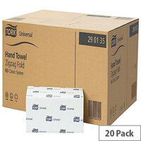 Tork Green Single I Fold Recycled Hand Towel for H3 System 20 Sleeves of 200 Towels (4000 Sheets) 290135