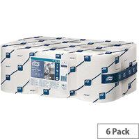 Tork Reflex Centrefeed Multipurpose Wiping Paper Rolls 1-Ply 113.9m White (6 Rolls) 473412