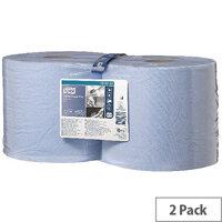 Tork Multi-Purpose Wiping Paper Blue Rolls 2-Ply 255m (2 Rolls) 130052