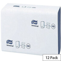 Tork Xpress Multi-Fold Paper Hand Towel Blue 1 Ply 250 Towels Per Sleeve 12 Sleeves (3000 Sheets) 471069