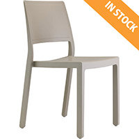 Kate Technopolymer Stacking Chair Dove Grey - Ideal for Indoor & Outdoor Spaces