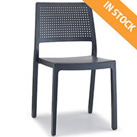 Emi Technopolymer Stacking Chair Anthracite - Ideal for Indoor & Outdoor Spaces