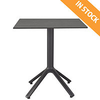 Nemo Fixed Base Table Anthracite W800xD800xH730mm - Ideal for Indoor & Outdoor Spaces