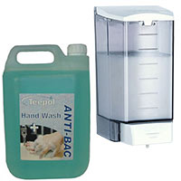 1.1 Ltr Liquid Soap Dispenser & 5 Ltr Anti-Bacterial Soap Bundle