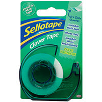 Sellotape Clever Tape and Dispenser 18mmx25m Pack of 7 1766004