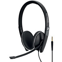 Sennheiser SC165 3.5mm Binaural Headset Black 508319