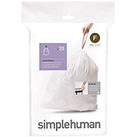 Simplehuman Custom Fit Bin Liners Code F 25L, Pack of 20 CW0165