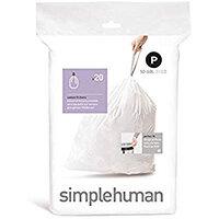 Simplehuman Custom Fit Bin Liners Code P 50-60L, Pack of 20 CW0175