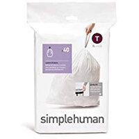 Simplehuman Custom Fit Bin Liners Code T 3L, Pack of 40 CW0216
