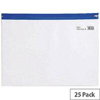 Snopake Zippa Bag A4 Blue Pack 25 12736