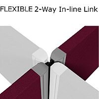 Flexible 2-Way Link For 1000mm High Sprint Eco Freestanding Screens