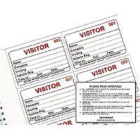Identibadge Visitors Book Refill 100 Inserts IBRSYS