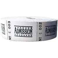 Roll Ticket Admission Assorted 50022 ITAD