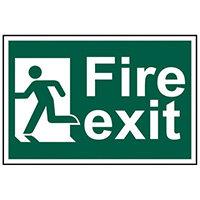Spectrum Industrial Fire Exit RM Left S/A PVC Sign 300x200mm 1508