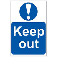 Spectrum Industrial Keep Out S/A PVC Sign 400x600mm 4003