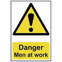 Spectrum Industrial Danger Men At Work S/A PVC Sign 400x600mm 4104