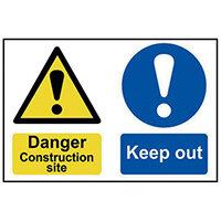 Spectrum Industrial Danger Construction Site S/A PVC Sign 600x400mm 4005