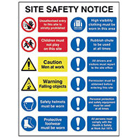 Spectrum Industrial Site Safety Notice FMX 600x800mm 4552