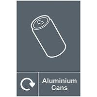Spectrum Industrial Recycle Sign Aluminium Cans 150x200mm SAV 18112