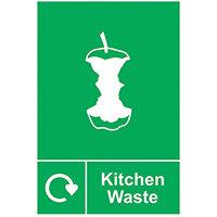 Spectrum Industrial Recycle Sign Kitchen Waste 150x200mm SAV 18172