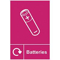Spectrum Industrial Recycle Sign Batteries 150x200mm SAV 18164