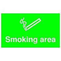 Safety Sign Smoking Area 300x500mm PVC