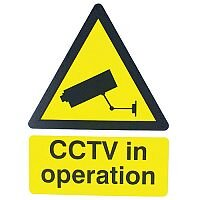 Warning Sign 400x300mm CCTV In Operation PVC