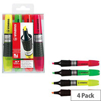 Stabilo Luminator Highlighter Pens Assorted Colours Wallet Pack of 4 71/4