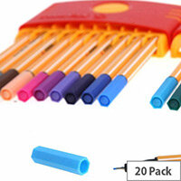 Stabilo Assorted Point 88 Fineliner Pens ColorParade Pack of 20