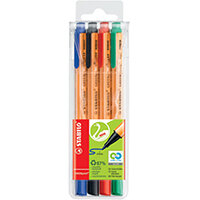 Stabilo GREENpoint Sign Pen Assorted Pack of 4 6088/4