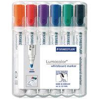 Staedtler Lumocolor 351 Drywipe Whiteboard Markers Assorted Pack of 6 351 WP6