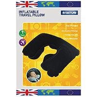 Status Inflatable Travel Pillow Pack of 10 STRPILLOW1PKB10