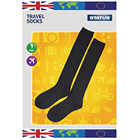 Status Black Travel Socks Size 6-9 Pack of 10 STRAVELSOC1PKB10