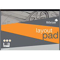 Silvine Layout Pad 80 Sheets A3 A3LP